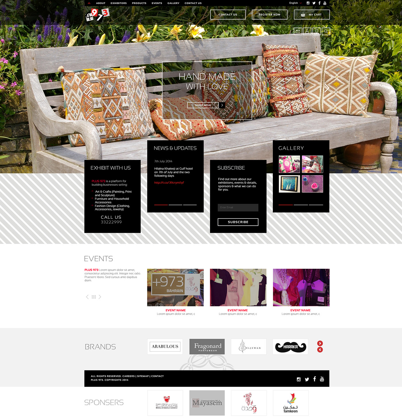 Plus 973 Artisanat | Responsive Website Design Bahrain | H2M